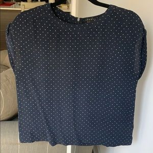 Theory silk star patterned top size P